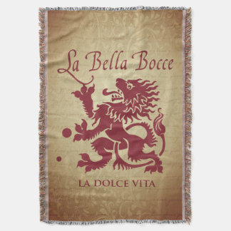 La Bella Bocce Throw Blanket