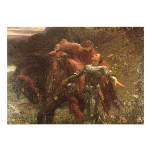 La Belle Dame sans Merci, Dicksee, Victorian Art Custom Invitation