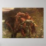 La Belle Dame sans Merci, Dicksee, Victorian Art Poster