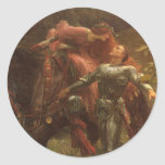 La Belle Dame sans Merci, Dicksee, Victorian Art Round Sticker