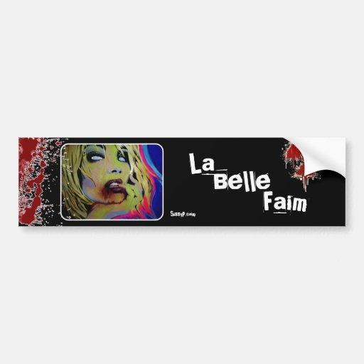 'La Belle Faim' (Zombie) Bumper Sticker