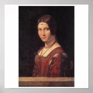 La Belle Ferronniere by Leonardo Da Vinci Poster