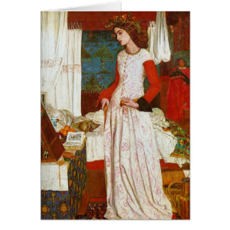 La Belle Iseult | Queen Guenevere, William Morris Card