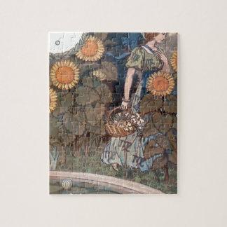 La Belle Jardiniere – August - Eugène Grasset Jigsaw Puzzle