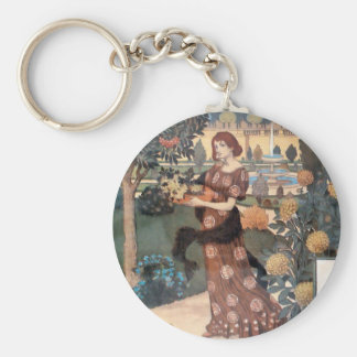 La Belle Jardiniere – Septembre - Eugène Grasset Key Ring