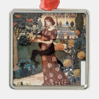 La Belle Jardiniere – Septembre - Eugène Grasset Metal Ornament