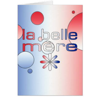 La Belle Mère France Flag Colors Pop Art Note Card