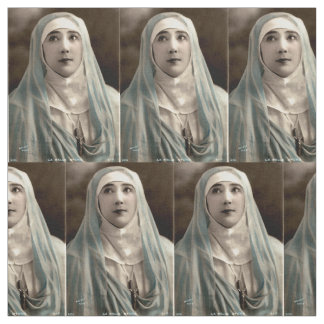 La Belle Otero as a nun print Fabric