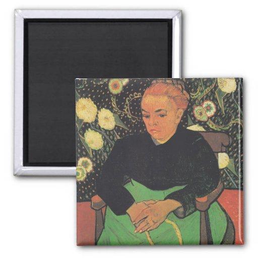 La Berceuse (Augustine Roulin) by Vincent Van Gogh Magnet