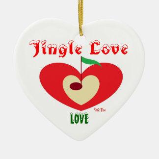LA Boo ( Jingle love ) Ceramic Heart Decoration