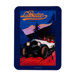 La Buize Lyon Vintage PosterEurope Rectangular Photo Magnet
