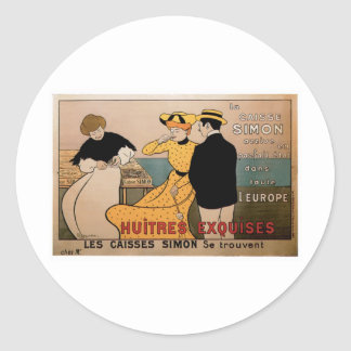 La Caisse Simon Vintage Food Ad Art Round Sticker