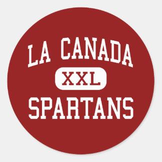 La Canada - Spartans - High - La Canada California Round Sticker