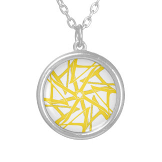 LA Celtic Tantra Logo Silver Plated Necklace