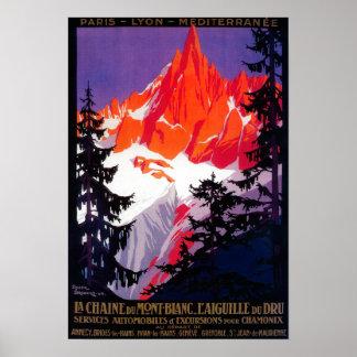 La Chaine De Mont-Blanc Vintage PosterEurope Print