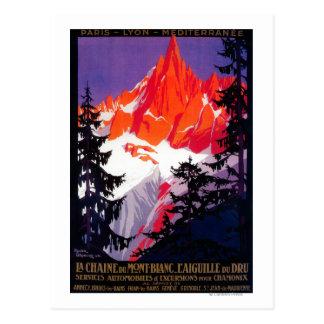 La Chaine De Mont-Blanc Vintage PosterEurope Postcard