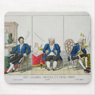 La Chambre Divisee en Trois Partis Mouse Pad