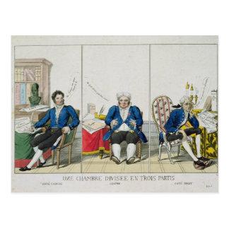 La Chambre Divisee en Trois Partis Postcard