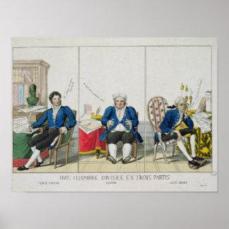 La Chambre Divisee en Trois Partis Poster