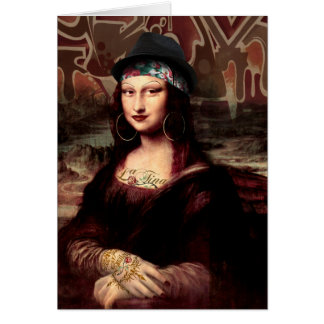 La Chola Mona Lisa Card