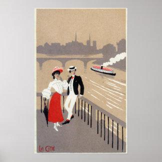 La Cite Art Deco Scene Poster