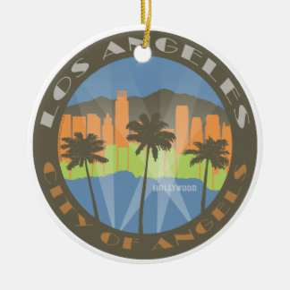 LA City of Angels Beachy Ceramic Ornament