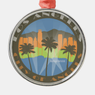 LA City of Angels Beachy Metal Ornament