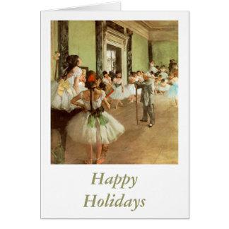La Classe de Danse by Edgar Degas Card