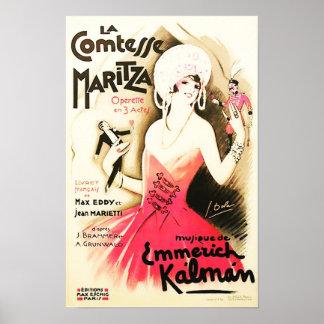 La Comtesse Maritza Vintage Poster