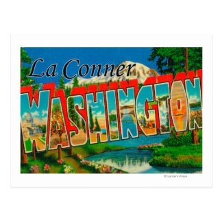 La Conner, Washington - Large Letter Scenes Postcard