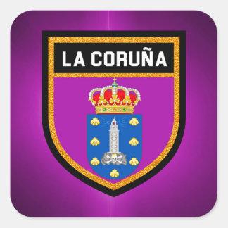 La Coruña Flag Square Sticker