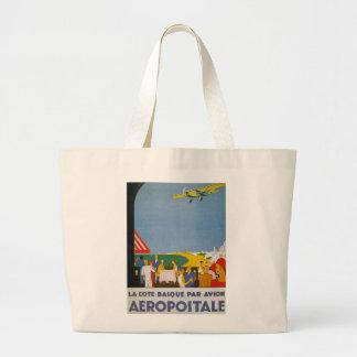 La Cote Basque Par Avion Jumbo Tote Bag