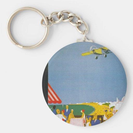 La Cote Basque Par Avion Key Chains