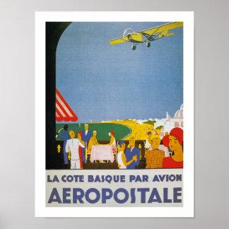La Cote Basque Par Avion Posters