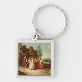 La Danse Silver-Colored Square Key Ring