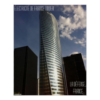 La Défense, France – Électricité de France Tower Poster
