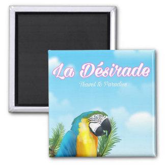 La Désirade Parrot travel poster Magnet