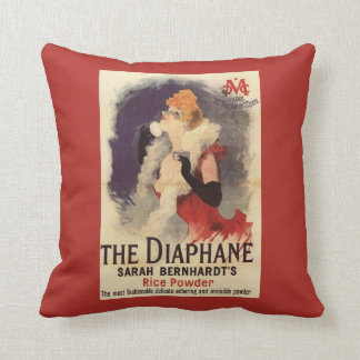 La Diaphane Woman Powdering Face Promo Poster Cushion