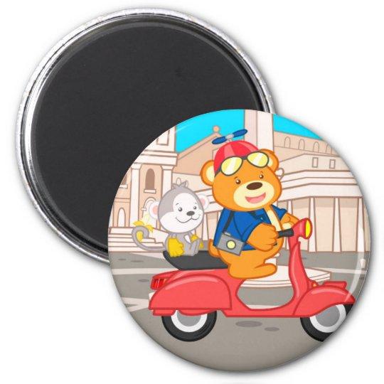 La Dolce Vita Romana - Nano Bear & Junior Monkey Magnet