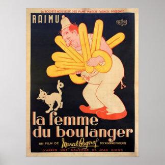 La Femme Du Boulanger Poster