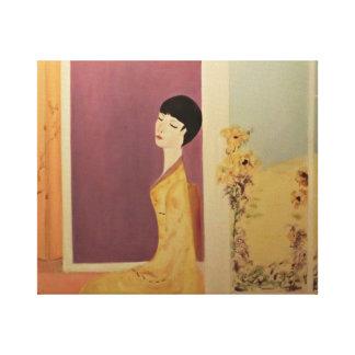 La Femme en Jaune Canvas Print