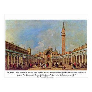 La Fiera Della Sensa In Piazza San Marco. Postcard