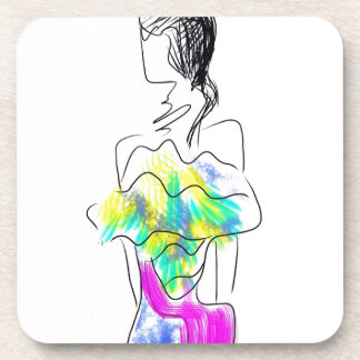 La Fleur Fashion Illustration Coaster