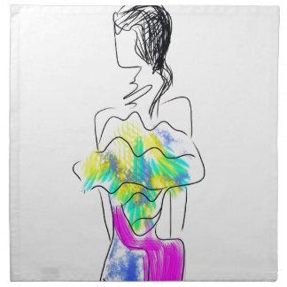 La Fleur Fashion Illustration Napkin