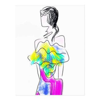 La Fleur Fashion Illustration Postcard