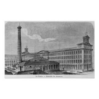 La Foudre' cotton mill Poster