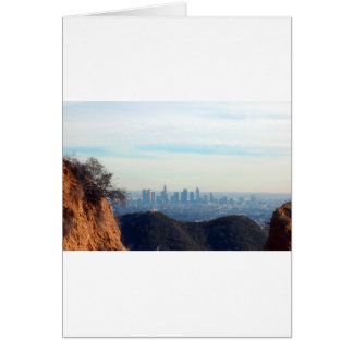 LA framed mountain Card