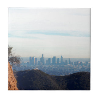 LA framed mountain Ceramic Tile