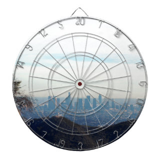 LA framed mountain Dartboard