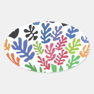 La Gerbe by Matisse Oval Sticker
